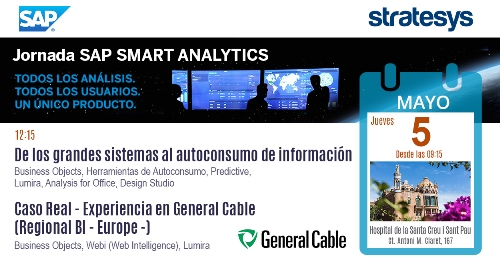 Stratesys - Evento SAP Smart analytics - BCN - 05 MAY 2016