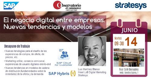 Stratesys - Evento El negocio digital entre empresas. Nuevas tendencias y modelos - 14JUN2016