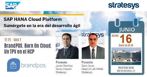 Stratesys - Evento SAP HANA Cloud Platform - BCN 16JUN2016