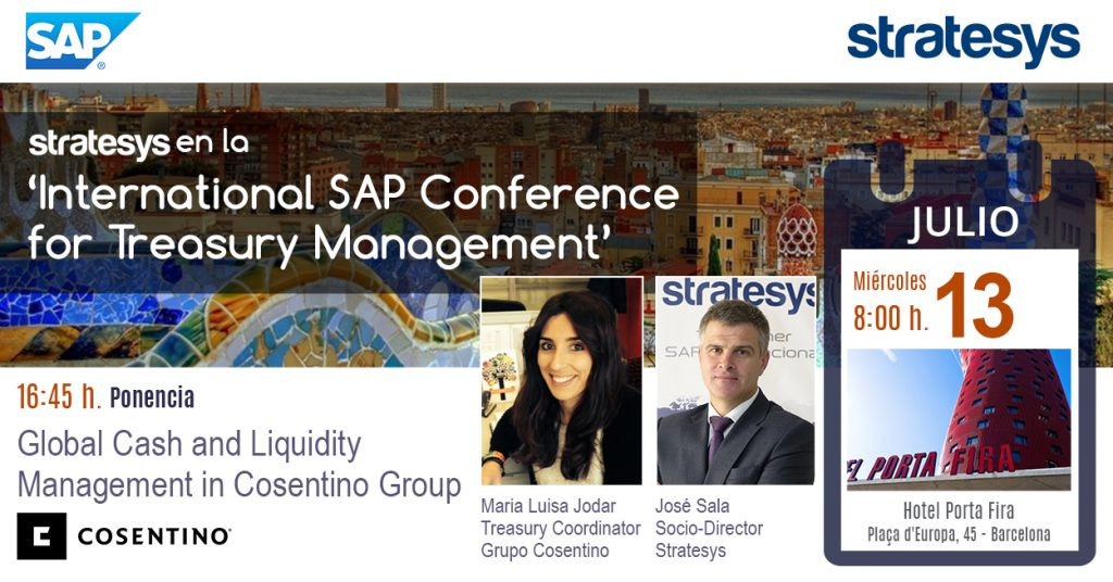 Stratesys - Evento International SAP Conference for Treasury Management - 13JUL2016