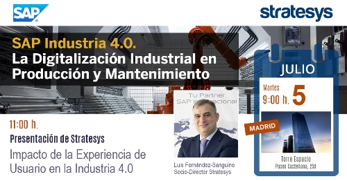 Stratesys - Evento SAP para la Digitalización en Producción - MAD 5-JUL