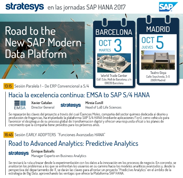 EVENTO Road to S4HANA - BCN 3OCT - MAD 5OCT