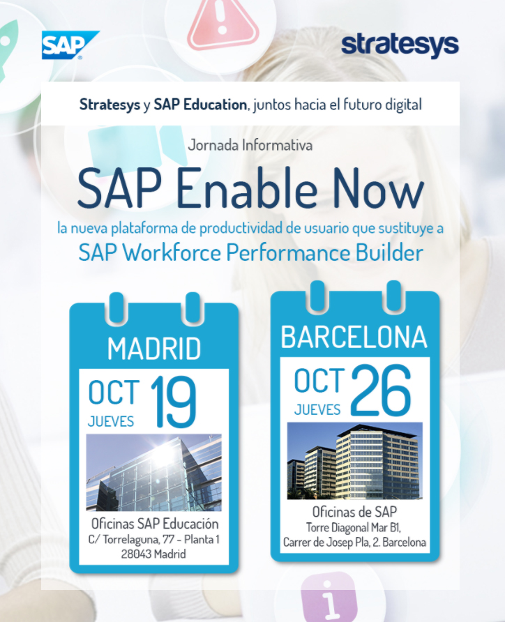 Stratesys - SAP Enable Now - MAD&BCN - 18&26 OCT 2017