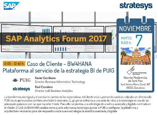 Stratesys - SAP Analytics Forum 2017 - Caso BWHANA PUIG - BCN 07 NOV 2017